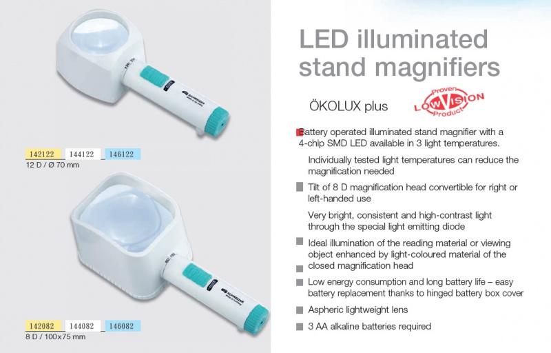 德國製Schweizer (ÖKOLUX plus) LED亮光放大鏡