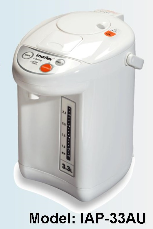 IMARFLEX 伊瑪牌『元氣‧白』3.3公升微電腦電熱水瓶 (IAP-33AU)