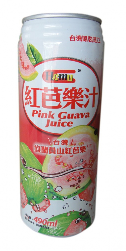 AJI337 Hamu 紅芭樂汁飲料 490ml