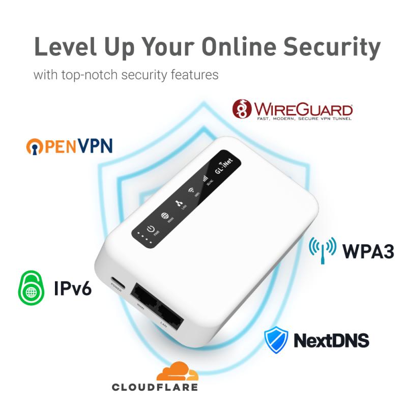 (Global version) GL-XE300 (Puli) CAT 4 4G LTE VPN Portable IoT Gateway 5000mA