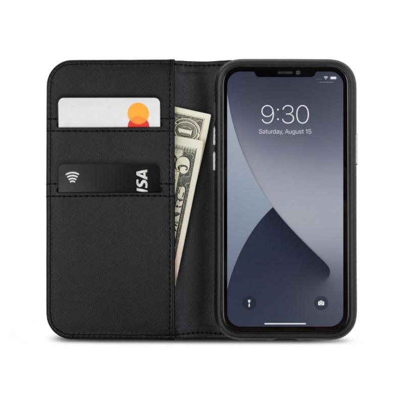 【香港行貨】Moshi Overture for iPhone 12 mini 磁吸可拆式卡夾型皮套 (SnapTo)[保護套]