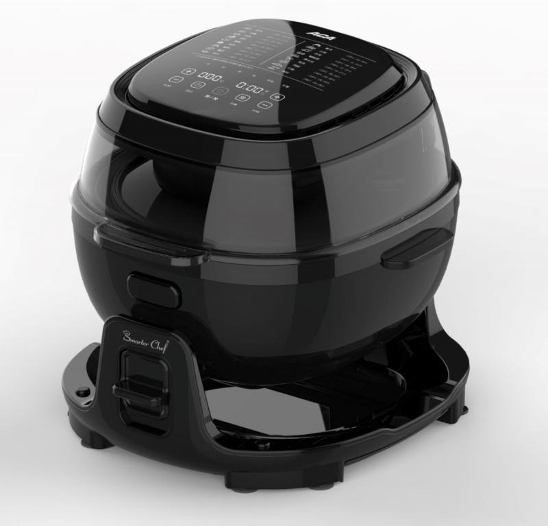 法國Smarter Chef 6升智能氣炸炒鍋 [黑色]