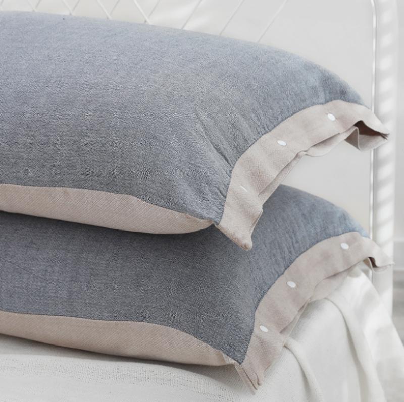日系無印花純色枕套枕頭袋