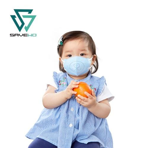 SAVEWO 3DBEAR 救世立體啤口罩 (30片/盒 ,獨立包裝) (6-24月嬰幼兒適用) [3色]