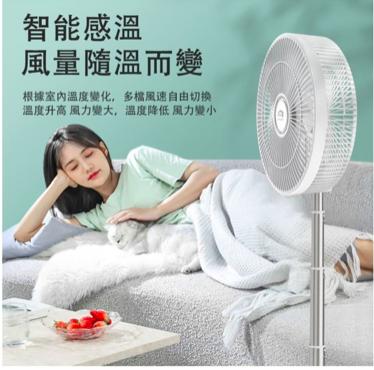 日本 Yohome 12寸 智能溫控驅蚊直流變頻折疊風扇