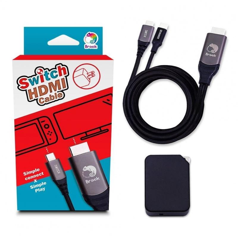 台灣製 - Brook Switch HDMI影像輸出+Type-c 快充線