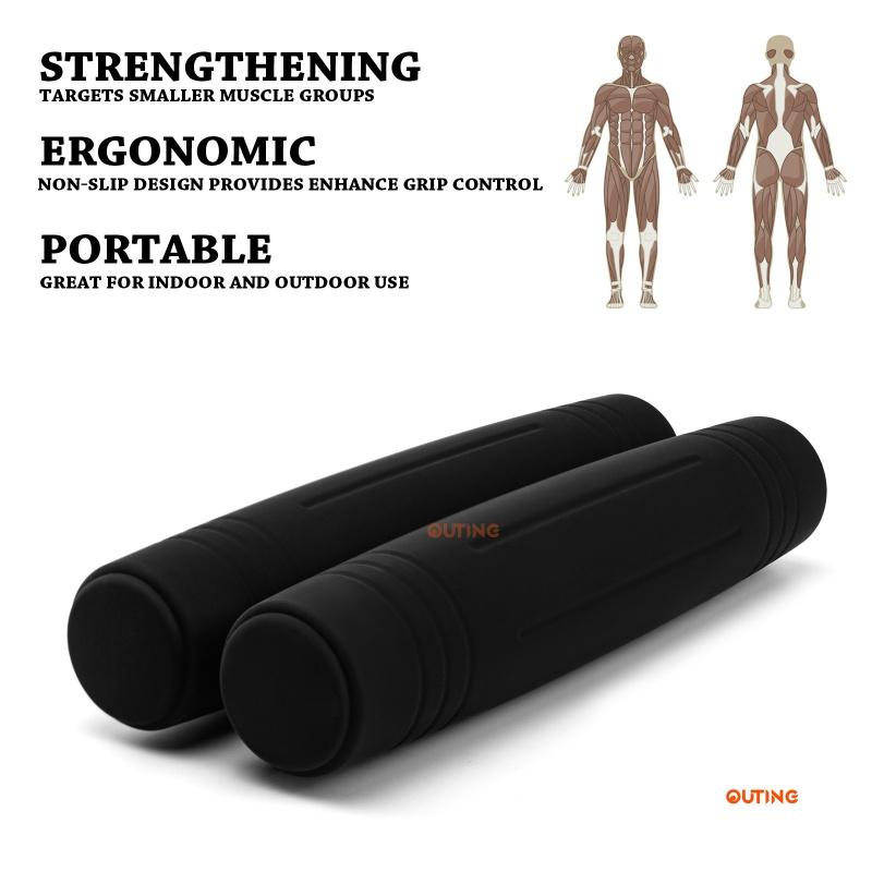 OUTING 6磅/對 健身減肥舉重健身訓練矽膠金屬啞鈴