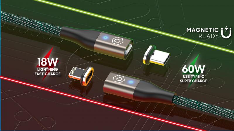 Elementz 2 合1 (Type C & iPhone) 磁吸充電線
