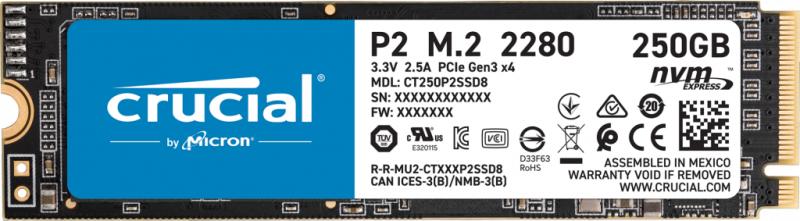 Crucial P2 NVMe PCIe Gen3x4 SSD (Micron Technology, Inc)