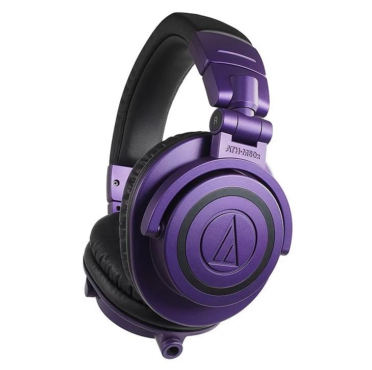 Audio Technica 專業監聽耳機 (紫/黑混色限量版) ATH-M50x PB
