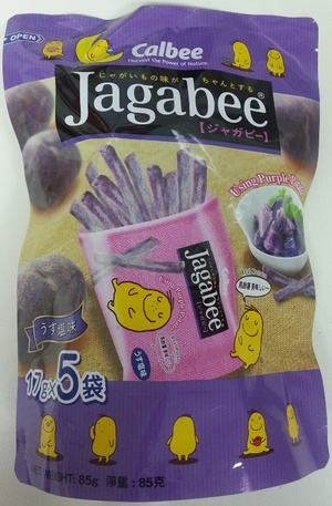 FS0107	卡樂B宅卡B紫薯條原味企身袋 85g Jagabee Purple Potato Sticks (Original Flavour) Standing Pouch 90g