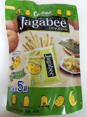FS0139卡樂B宅卡B薯條紫菜企身袋 85g Jagabee Potato Sticks (Seaweed Flavour) Standing Pouch 85g