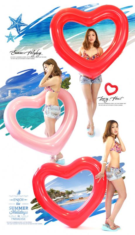 日本浮き輪心形水泡 [3色]