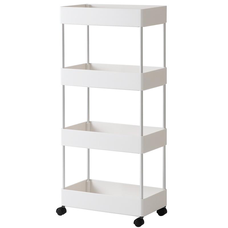 多用途四層可移動窄款置物架