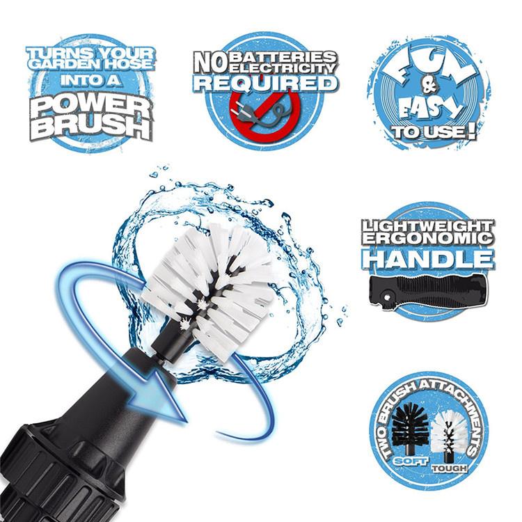 Brush Hero水壓驅動旋轉刷頭多功能清潔刷套裝