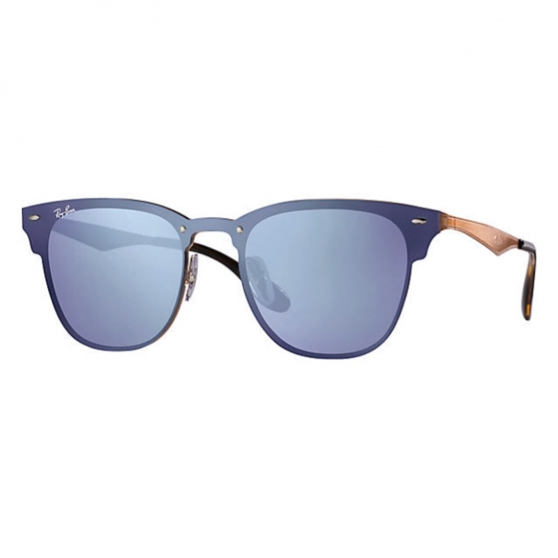 Ray-Ban RB3576N 90391U Blaze Clubmaster 太陽眼鏡   銅色鏡框及寶藍色反光鏡片