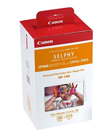 Canon RP-108 Color Ink/Paper Set Selphy CP1000 系列用4R相紙