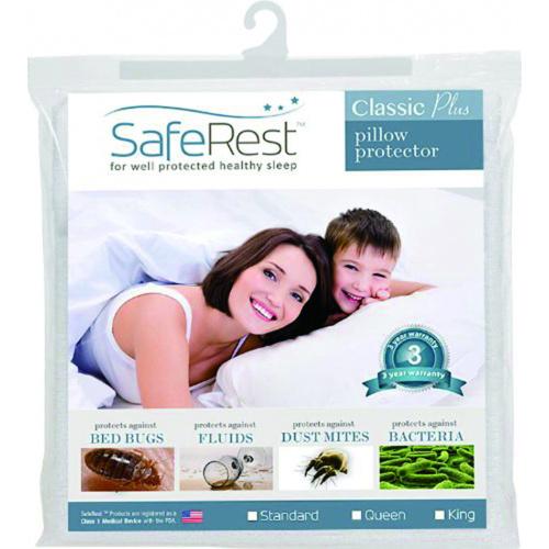 SafeRest 防水防蟎360度保護枕頭套 (經典版) [一套2個]