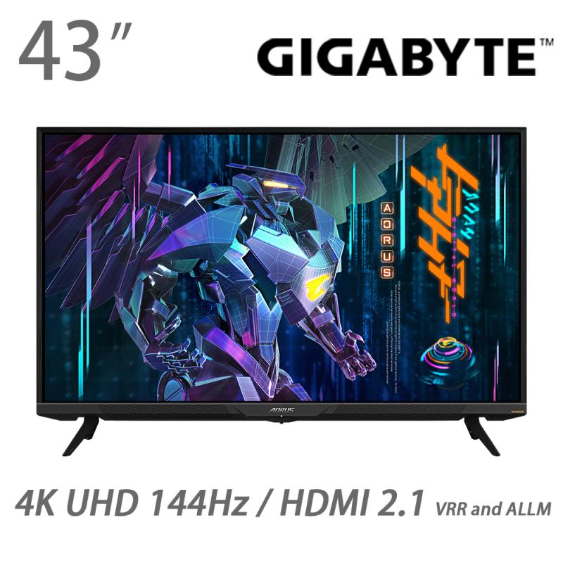 """GIGABYTE AORUS 43"""" 4K 144Hz 電競螢幕 FV43U"""