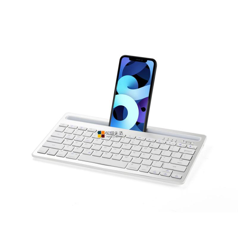 RK908便攜式藍牙無線鍵盤–銀白色