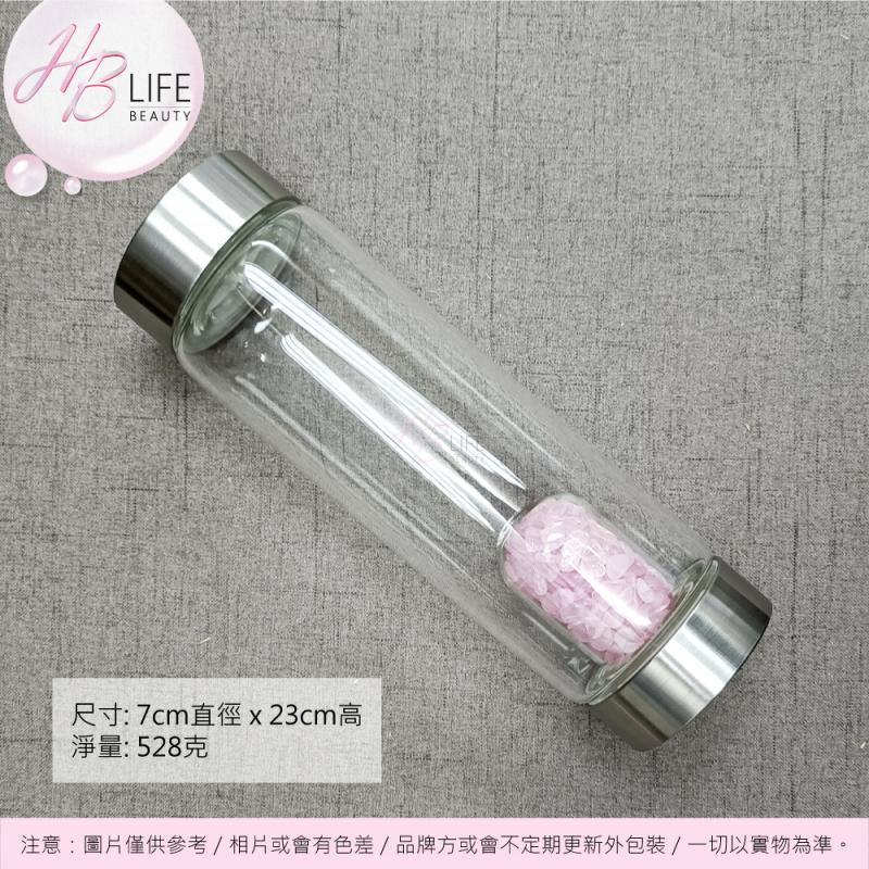 ORA 能量玻璃水樽連內膽包80克天然粉水晶粒 (1件)