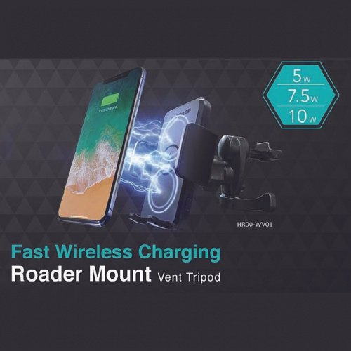 Capdase Roader Mount Fast Wireless Charging Vent Tripod (Air Vent) (HR00-WV01)