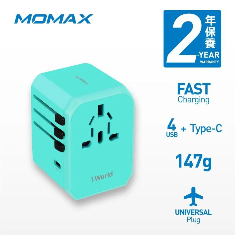 【香港行貨】MOMAX 1 World USB 旅行插座 Type-C + 4 USB UA5[充電器 電池]