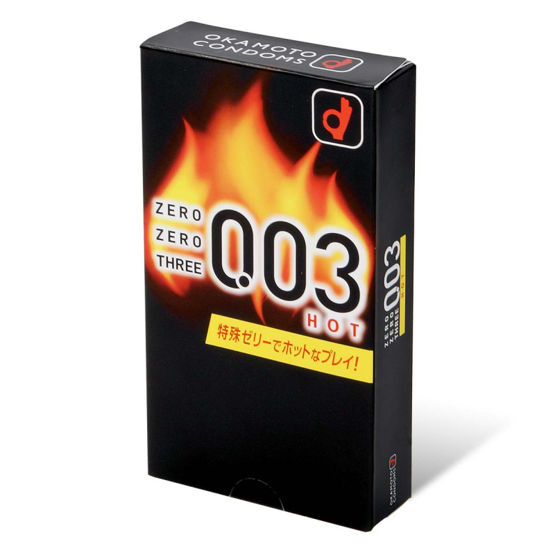 岡本。零零三 Okamoto 0.03 熱感 (日本版) 10 片裝 乳膠安全套 (短效期)