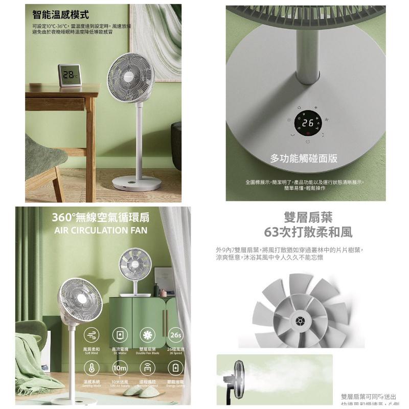 @PL • 韓國DAEWOO 無缐360 度空氣循環扇
