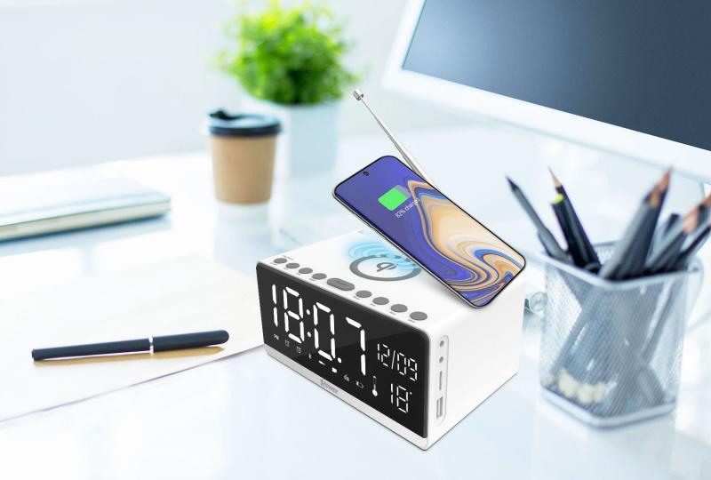 Xpower QI-Clock 2 QIC2 10W Wireless Charging Alarm Clock無線充電鬧鐘 XP-QIC2-WH