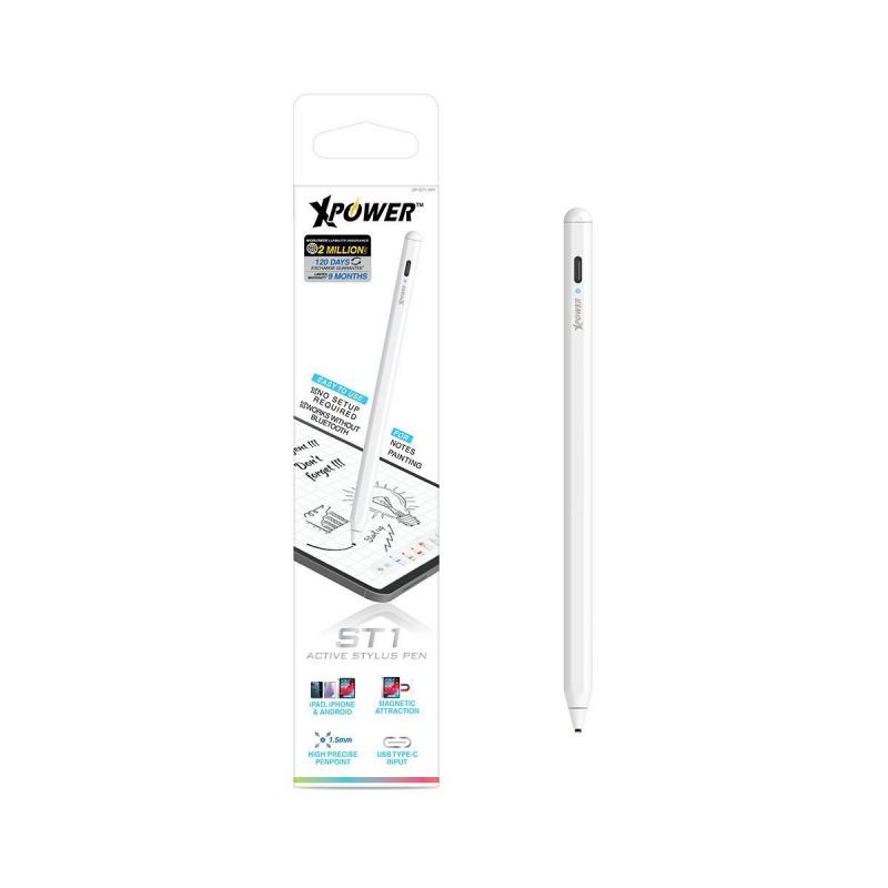 XPower ST1 主動式電容觸控筆 有iPad磁貼 用於手機平板