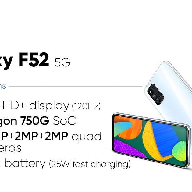 新機到貨~全新全套 三星F52 5G雙卡 (8+128) 🎉門市現金優惠價$2099🎉