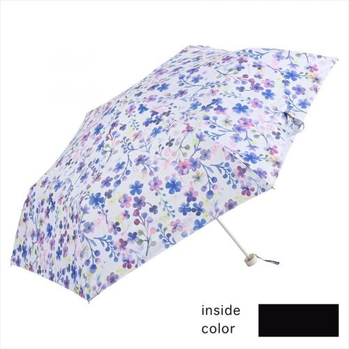 NIFTY COLORS 日本遮光防風淡紫色花迷你雨傘(縮骨遮)