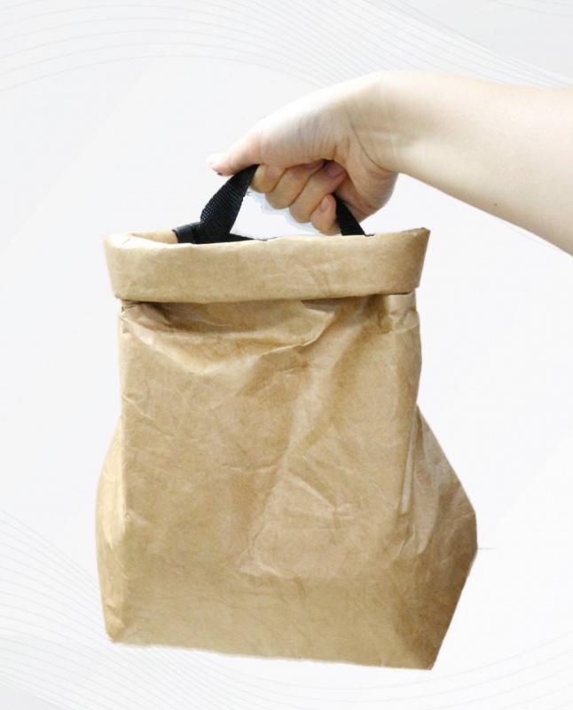 中秋節/ 月餅袋 / 冰皮月餅包裝 防水牛皮紙手提保温袋 卡其色 食品冷藏保冷袋散買 OT-210404A