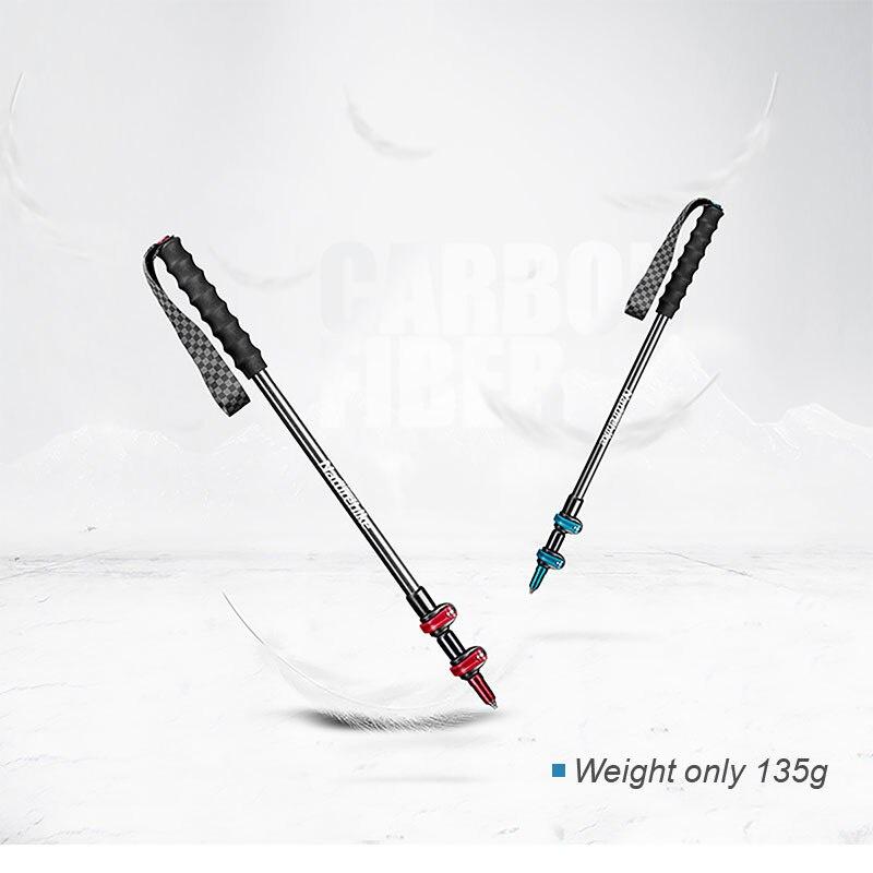 NATUREHIKE ST-10 可調式3段碳纖行山杖 NH19S010-T