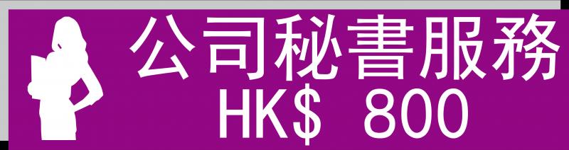 公司秘書 HK$800.00/年