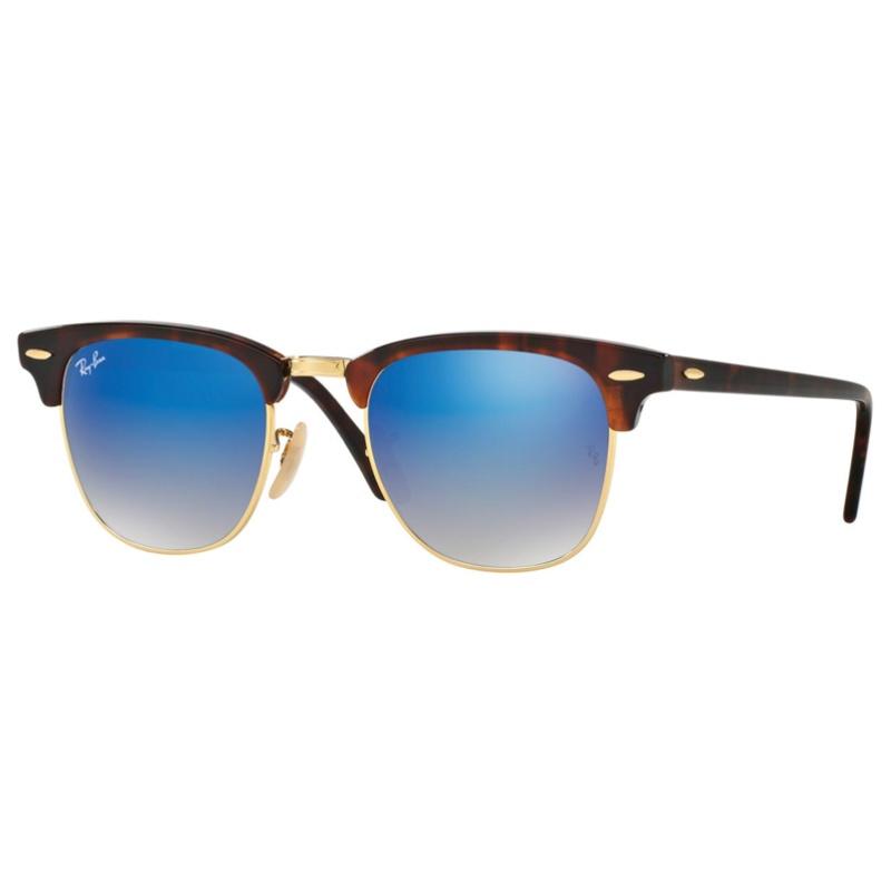 Ray-Ban RB3016 Clubmaster Flash Lenses Gradient 漸變藍色反光鏡片太陽眼鏡 | 990/7Q 玳瑁啡色鏡框