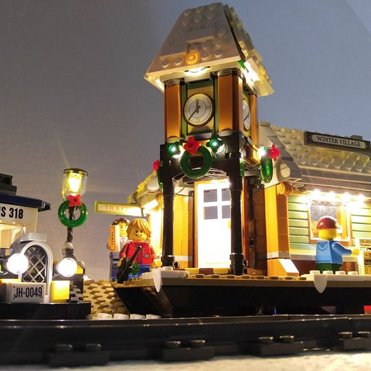 LEGO 10259 Winter Village Station Lighting Set 專用燈組 (不包括本體Lego)