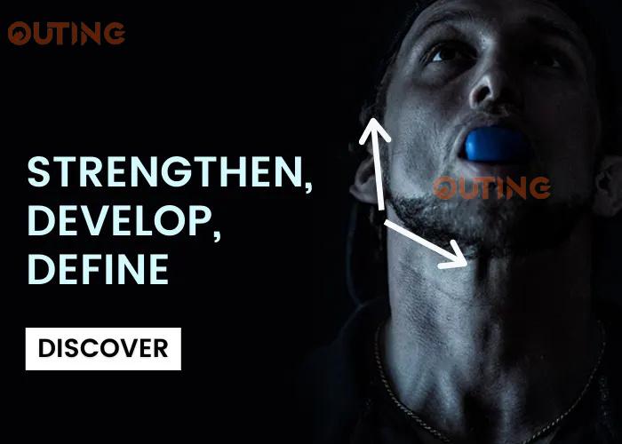 OUTING - V面鍛煉器 鍛煉顎骨|頸部訓練| 使您的臉部變得V和減少雙下巴 顎部鍛煉包包臉部瘦臉|口部肌肉鍛煉器