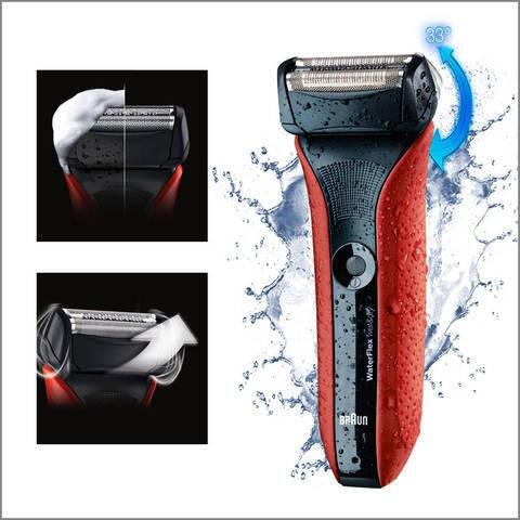 百靈 BRAUN WF2s WaterFlex 水感電鬚刨 (紅色)