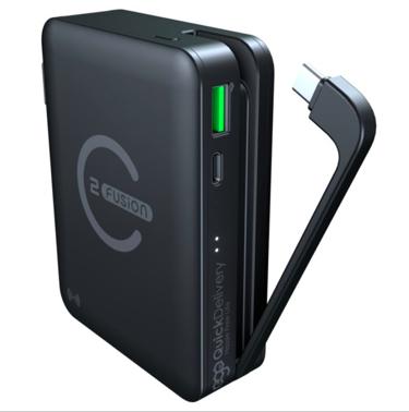 Ego - 原裝行貨 E-Fusion 2 15000mAh 65W PD 三合一無線充 GaN充電器 行動電源