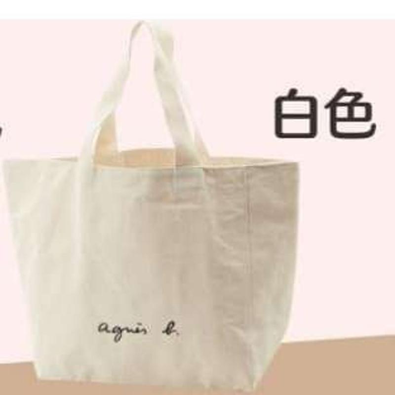Agnes B 帆布袋 大袋款 白色
