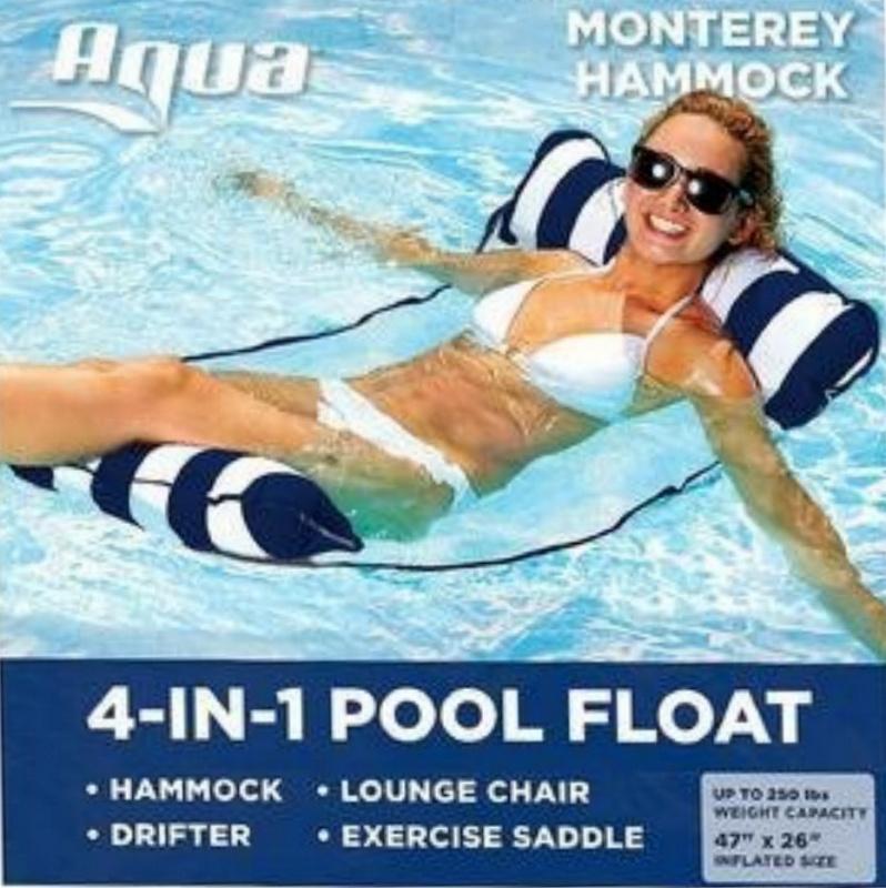 水上吊床Water Hammock 充氣躺椅水上浮床游泳充氣浮排