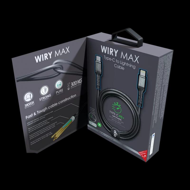 EGO WIRY MAX Type-c To Lightning充電線 (MFI) (20cm/100cm/200cm)