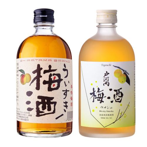 [梅酒套裝] 明石梅酒威士忌 500ml + 戶河內 (Togouchi) 日本威士忌梅酒 500ml