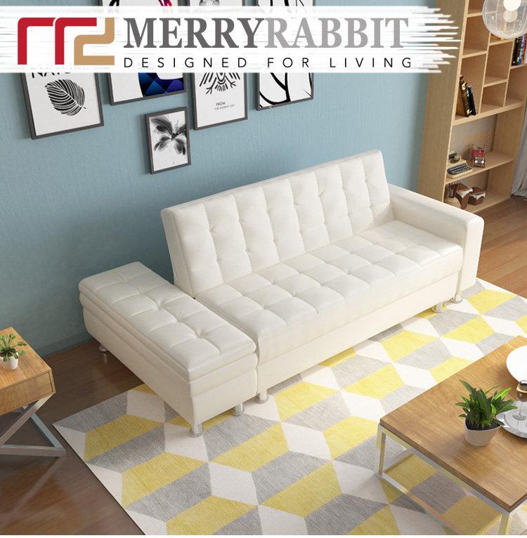 MerryRabbit MR-114 3座位仿皮梳化床連腳踏[5色][2組合]