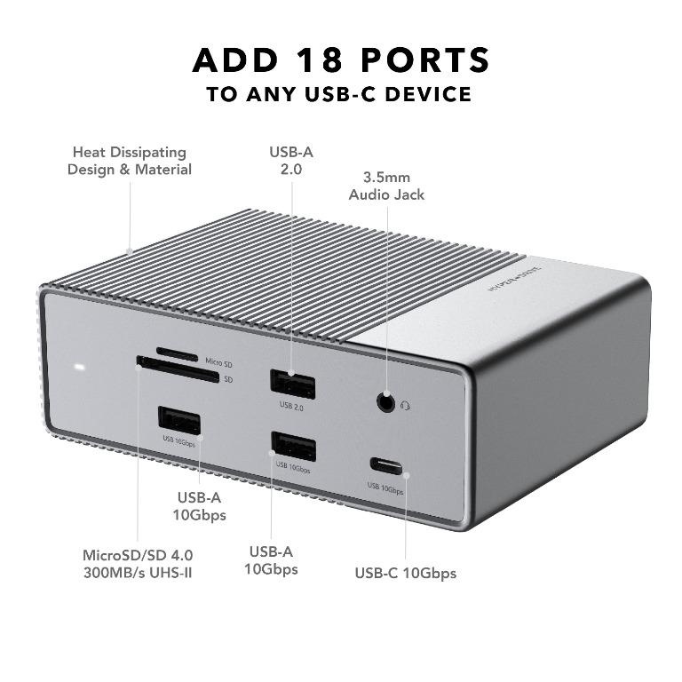HyperDrive GEN2 18-Port USB-C Hub[其他電腦配件] 【香港行貨】