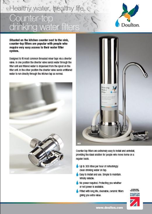 道爾頓 香港行貨 一年保用 - DCS+BTU (NSF) [英國製造] 矽藻瓷濾水器 (台上式)   附送: BTU(NSF) 2501 濾芯 [香港行貨] HCS 最新版