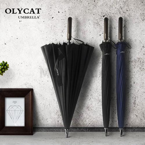 Olycat 防風復古加固晴雨長柄傘 [2色]
