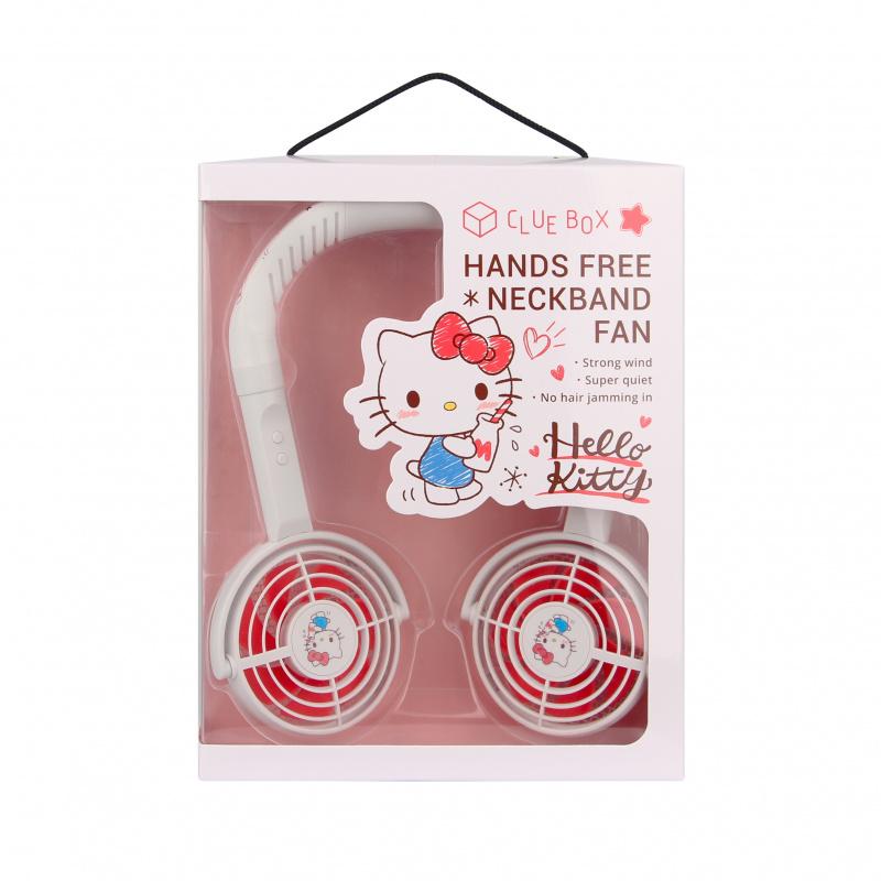 """【預購】【Sanrio X Club Box】 """"COOL住你"""" 潮人掛頸風扇2.0 - Hello Kitty (預購貨品兩星期出貨)"""